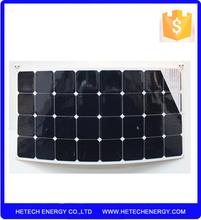 2015 Flexible solar For Car For boat Mono 120w sunpower flexible solar panel China