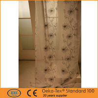wondeful flower design organza embroidered curtains fabric
