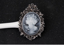 2015 portrait brooch,vintage style rhinestone brooches,wholesale brooches