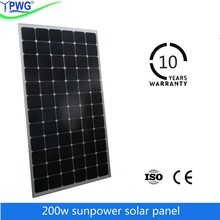 Special offer! Factory direct sale sunpower pv solar panel price of 200w mono solar panel
