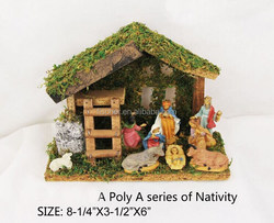 Christmas decorations Poly resin Christmas crafts home decorations-Nativity.