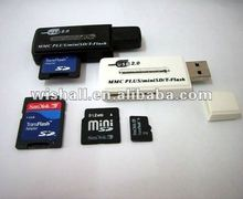 USB MMC/PLUS/MINI SD/T-FLASH CARD READER