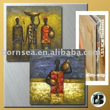 customized African women abstract oil painting