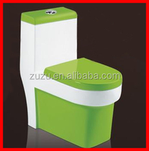 Sanitary ware bathroom one piece s-trap green color ceramic toilet A1162d