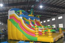 Shanghai China best selling gaint inflatable toboggan slide