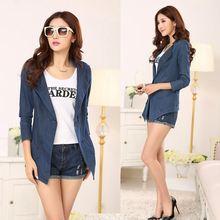 Wholesale OEM Bulk Cheap Factory Apparel Garment low- spring new wild Tencel denim waist coat 9015