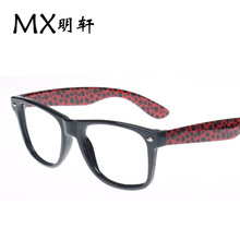 538 ewhxyj Bingbing series meters nail fashion eye candy colored leopard frame temples big box eyeglass frames for men and women