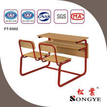 Hot sale! double school desk and school chair ,school furniture for student /study