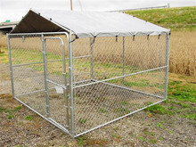 China supplier hot dip galvanized metal steel 10' Wide Kennel with cover