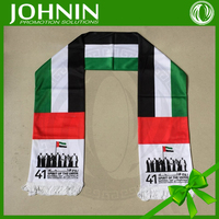 Promotional Sublimation Printing Polyester Uae National Day Scarves
