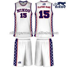 custom eyelet sublimated school basketball uniforms white jersey and shorts