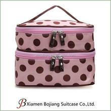 Toiletry Travel Wash Organizer Case Makeup Dot Zip Hanging Cosmetic Bag Holder Pink
