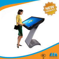 42 46 55 Inch Stand Alone LCD Advertising Video Display Digital Signage With IR Touch Screen