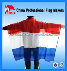 Custom outdoor advertising and promotional body flag and cape flag