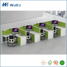 Full fabric partition L shape Office furniture, 4 people office partition/office furniture