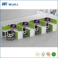 High quality full fabric partition L shape office furniture, 4 people office partition / office furniture