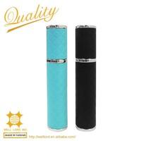 High quality custom made leather wrapped mini perfume spray atomizer