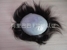 Large stockTop quality 100% Human Hair Thin Skin Men's Hair Systems, Men's Toupee, Men's Hair Pieces