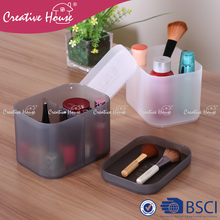 Fashion mini storage box house keeping storage cases colorful desktop home makeup organizers with / without cover