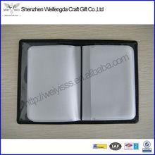 Black Transparent Vinyl PVC Business Credit Card Holder