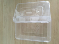 High quality FDA standard 500ml, 650ml, 750ml, 1000ml disposable plastic PP microwave food container