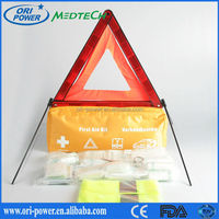 OP wholesale DIN13164 Germany ISO CE FDA approved orange nylon travel bike car first aid bag