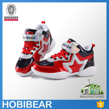 HOBIBEAR 2015 high cut shock-absorbant fashion children branded sports hiking shoes