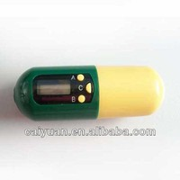 Capsule shaped electric pill box with countdown timer