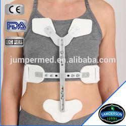 hinged pubic aluminum frame rib support/rib brace