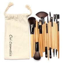 18 pcs Makeup Brushes Kit Professional Synthetic Hair Brush With Drawstring Bag