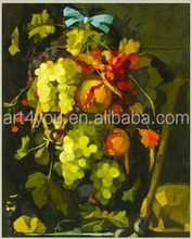 made in China handmade canvas abstract fruit oil painting for home decor