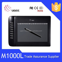 2015 hot sale Ugee M1000L 2048 levels 200 RPS10x6 inches active area USB input tablet