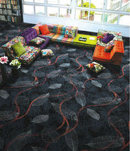 Leaves pattern printed carpet, moquette carpet