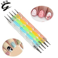 5 PCS Acrylic Handle Two Way dotting nail art tool
