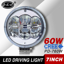 7 inch 60w round off road 4x4 Auto lighting electrical motorcycle led driving lights