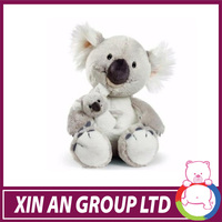 ICTI and SEDEX audit peluche wholesell OEM design mother and baby plush koala