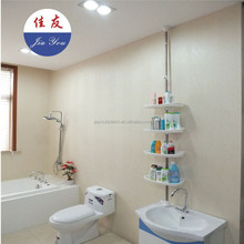 JYXF 4 tier plastic bathroom wall shampoo corner rack shelf JYY-604A
