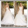 Boob Tube Top Lace Up Back Floor Length Custom Make Long Formal Bridal Design Robe De Mariee HS139 2014 simple wedding dress