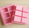 wholesale custom made 100ml each soapDIY 6 rectangle square Factory price handmade rectangular silicone soap mold