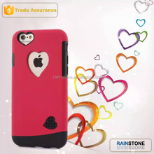 Sweet heart TPU PC hard case for iphone 6 new products 2015