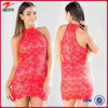wholesale onling shopping women sexy lace dress in red
