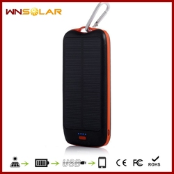 4 in 1 cable Portable Solar Power Bank Mobile Battery Charger for iPhone with 10000mah