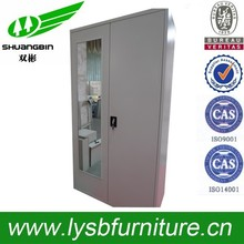 Used new dormitory cloth cabinet/double door steel wardrobe with mirror/gym locker cabinet