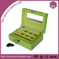lac jewellery box with compartments wood