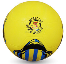 Colorful rubber soccer ball for training
