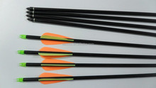 orange and yellow 31'' Hunting Fiberglass Arrows Target Practice Arrows with Screw Tips