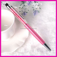 Cheap high quality premium retractable ballpoint pen stationary crystal ball pen for promotional gifts