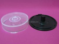 Disc cake box cheapest clear/black bottom plastic CD cake case