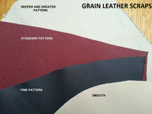 Leather scraps from automotive leathers