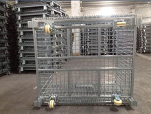 collapsible stackable folding wire mesh cage